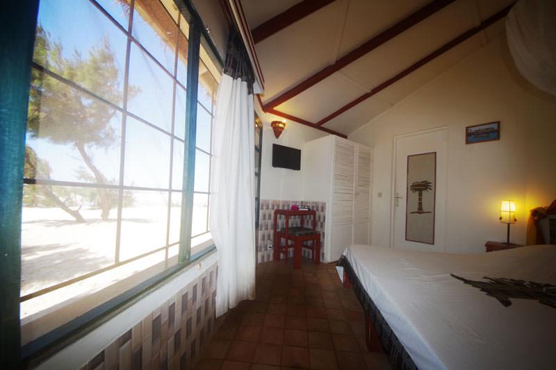 illustration montrant : Chambre en bungalow côté mer